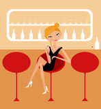 Girl in a bar Stock Image