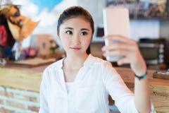 Girl in the bar Stock Photo