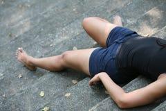 Girl bare feet Stock Photos