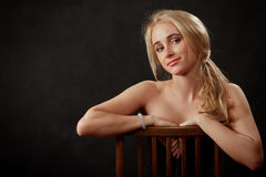 Girl with bare shoulders Royalty Free Stock Photos