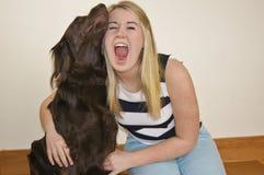 Girl Barking Royalty Free Stock Photography