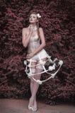 Girl Baroque. Sexy girl of the Baroque style in underwear Stock Photos