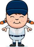 Girl Baseball Player Stock Photo