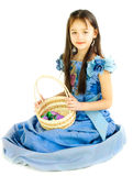 The girl with a basket Royalty Free Stock Image
