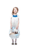 Girl with basket Royalty Free Stock Photography