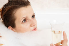 Girl in a bath Royalty Free Stock Images