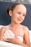 Girl in the bath Royalty Free Stock Photography