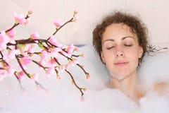 Girl in bath Stock Photos