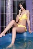 Girl in bath Royalty Free Stock Image