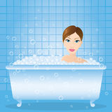 Girl in the bath Stock Photos