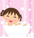 Girl in the bath Stock Photos