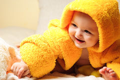 Girl after bath Royalty Free Stock Images