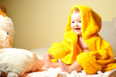 Girl after bath royalty free stock photo
