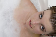 Girl in bath Stock Photography