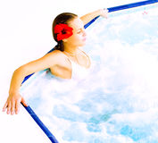 Girl in a bath Royalty Free Stock Photo