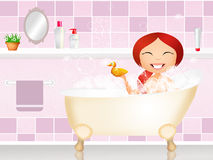 Girl in the bath Royalty Free Stock Photo