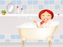 Girl in the bath Stock Photography