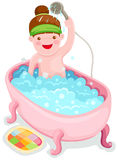Girl in the bath tub Stock Photos