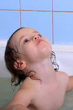 A girl bathes. Royalty Free Stock Photos