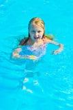 Girl bathes Stock Photo