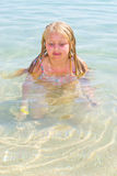 Girl bathes in the red sea Royalty Free Stock Photos