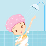 Girl bathing Royalty Free Stock Photos