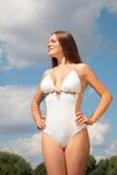 Girl in bathing suit Royalty Free Stock Photos