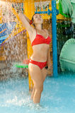 Girl in a bathing suit Royalty Free Stock Images
