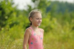 Girl in a bathing suit Royalty Free Stock Photos