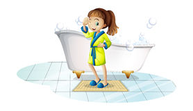 Girl and bathtub Royalty Free Stock Photography