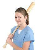 girl batter Royalty Free Stock Photography