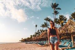 Girl at Bavaro Beaches in Punta Cana, Dominican Republic. Photo of Girl at Bavaro Beaches in Punta Cana, Dominican Republic royalty free stock photography