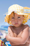 Girl on beach Royalty Free Stock Image