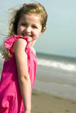 Girl at the beach Stock Image