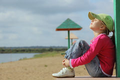 The girl on a beach Stock Photography