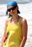 Girl in the beach Stock Image