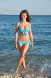 Girl in beach Royalty Free Stock Photo