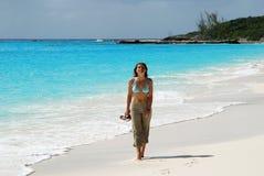 The Girl On A Beach Stock Image
