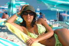 Girl on the beach. Young women on the beach Royalty Free Stock Image