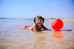 Girl on beach Royalty Free Stock Photography