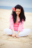 Girl at beach Royalty Free Stock Photography