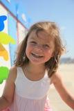 Girl at beach Stock Photo