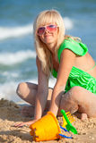 Girl at the beach Royalty Free Stock Image