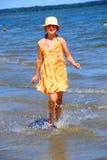 Girl beach stock image
