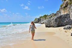 Girl on beach Royalty Free Stock Photos