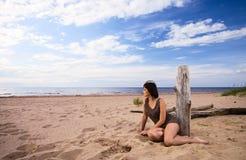 Girl on a beach. Stock Image