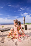 Girl on a beach. Royalty Free Stock Photo