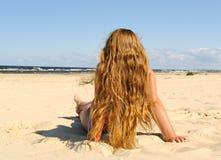 Girl on the beach. Stock Photography