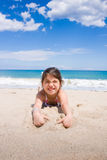 The girl on the beach Royalty Free Stock Photography