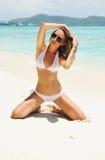 Girl on a beach Royalty Free Stock Photos